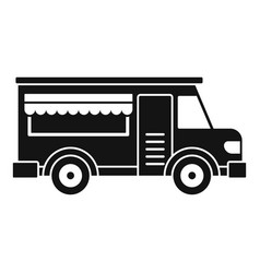 Fast food truck icon simple style vector
