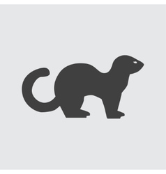 Ferret icon vector image