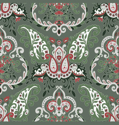 floral ornaments with blossom and foliage pattern vector image