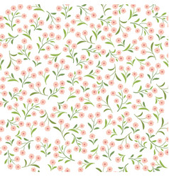 floral tile pattern leaves and flowers nature vector image