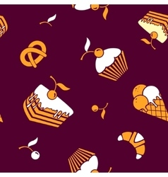 Food and drink seamless pattern vector image