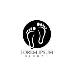 footprint black image logo icon app vector image
