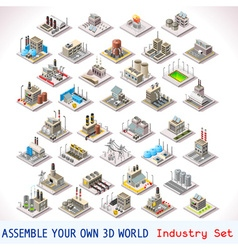 Game Set 05 Building Isometric vector image
