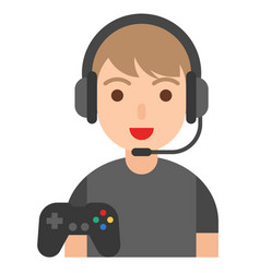 Gamer icon profession and job vector