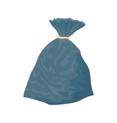 Garbage bag icon cartoon style vector