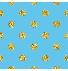 Glitter polka dot seamless pattern vector