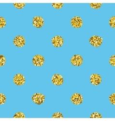 Glitter polka dot seamless pattern vector image