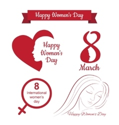 happy womens day design vector image