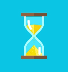 Hourglasses on blue background vector image