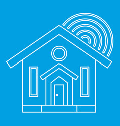 House icon outline style vector