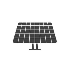 icon of the solar panel on white background vector image