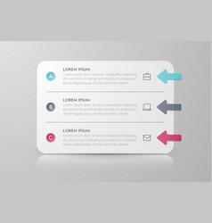 Infographic concept design with 3 options steps vector