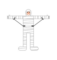 Injured man isolated man in bandages bandaged vector