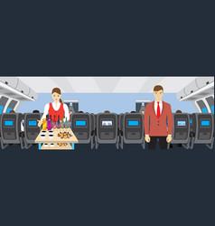 Interior of salon of the plane vector