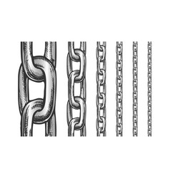 iron chain seamless pattern in different scale vector image