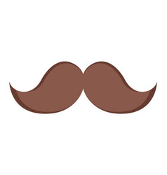 isolated mustache icon vector image