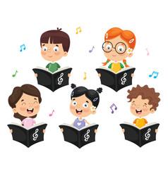 Kids choir vector