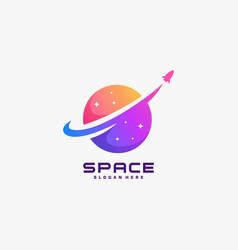 Logo space galaxy gradient colorful vector