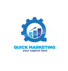 Marketing accounting logo designs vector