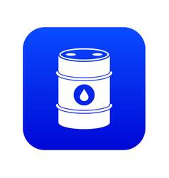 Metal oil barrel icon digital blue vector
