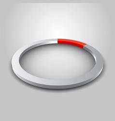 metallic wheel graph with shadow vector image