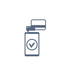 mobile terminal icon payments vector image