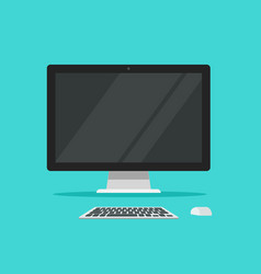 monitor keyboard and mouse vector image