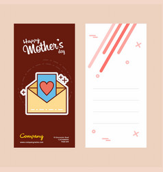 Mothers day card with letter logo and pink theme vector