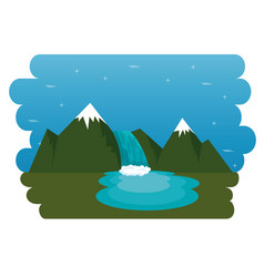 Mountains with snow canadian scene vector