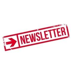 Newsletter stamp rubber grunge vector