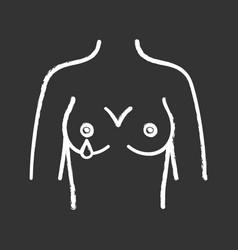Nipple discharge chalk icon vector