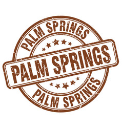 Palm springs stamp vector