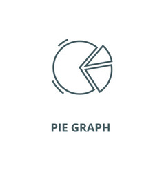 pie graph line icon linear concept vector image
