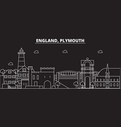 Plymouth silhouette skyline great britain vector