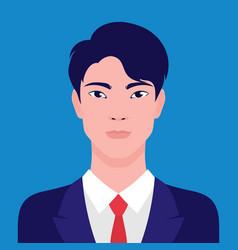 Portrait an asian businessman flat vector