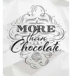 Poster chocolate vector image