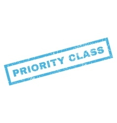 Priority Class Rubber Stamp vector