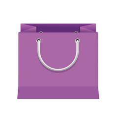 Purple paper bag gift present package empty vector