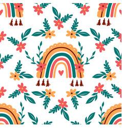 rainbow pattern abstract boho rainbow vector image