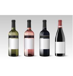 Realistic glass bottles set vector