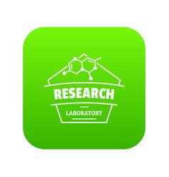 research molecular icon green vector image