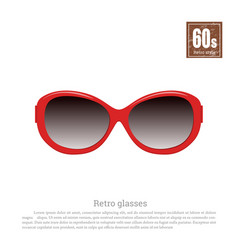 retro glasses on white background vector image