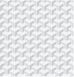 seamless 3d geometric pattern vector image