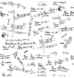 seamless background math formulas vector image