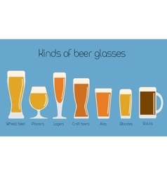 Set of beer glassware Cool minimal flat vector