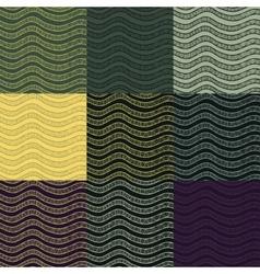 Set os abstract seamless patterns vector image
