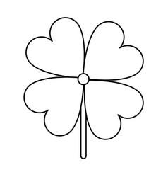 Shamrock or clover leaf saint patricks day related vector