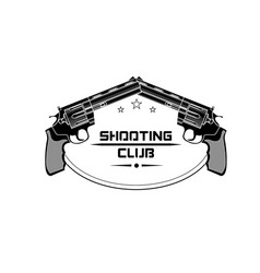 Shooting club emblem logo vector