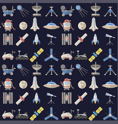 stylish space ship seamless pattern background vector image