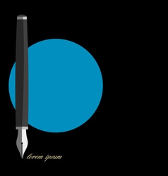 Stylized writing pen variation 1 vector